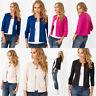 Women Tops Shirt Blouse Coat Cardigan Three Quarter Sleeve Round Neck Casual