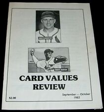 CARD VALUES REVIEW 1982  SEPT - OCT BASEBALL ENOS SLAUGHTER & MARTY MARION