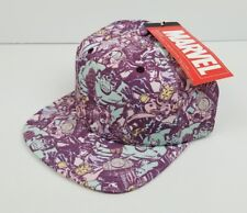 dc8b3950d93 Size  One Size. Marvel Superheroes All Over Print Mens Womens Snapback Hat  Cap Flat Brim NWT NEW
