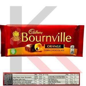 Cadbury Bournville Orange Smooth Dark Chocolate Bar 100g Pack of 1 and 4