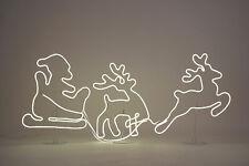 Neon Licht LED Rentiere mit Schlitten 140x52cm - 1200 LED - Weihnachtsdeko Außen