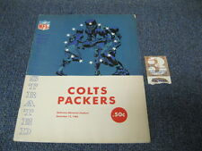 Dec 12, 1965 Baltimore Colts vs Greenbay Packers  Program Ticket Stub