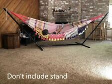 Ingalex handwoven Hammock Mayan style double size with two straps for hanging