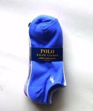 New Ralph Lauren Polo Women's THIN light 6 pair purple white grey Ultra Low Cut