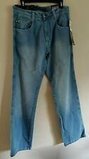 SouthPole 4180 Relaxed Fit Jeans, Light Sand Blue, W32 X L34, New