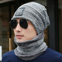 knitted wool Hat Fleece Winter Warm New Snood Scarf Neck Warmer lk98