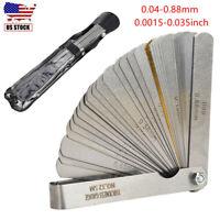 32 Blade Feeler Gauge Dual Reading Combination Gap Metric Imperial Measure Tool