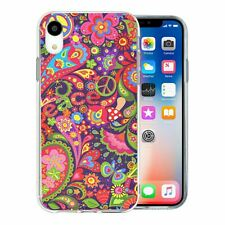 For Apple iPhone XR Silicone Case Retro Flower Pattern - S6350