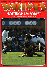 1981/82 Wolverhampton Wanderers v Nottingham Forest, Division 1, PERFECT