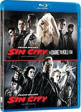 sin city & sin city A dame to kill for (2014, 2 disc blu ray set, Canadian) *New