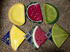 Fruit Party Set Paper Plates Napkins Lemons Limes Watermelon