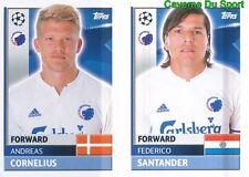 QFD15-16 SANTANDER CORNELIUS FC.KOBENHAVN STICKER CHAMPIONS LEAGUE 2017 TOPPS