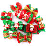 20/100pcs Cat Dog Puppy Hair Bows Grooming Accessories Cute Christmas Decoration