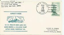 USS FRIGATE BIRD MINE SQUADRON 1965 COVER TO US  REF  614