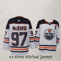 Edmonton Oilers #97 C Connor McDavid White Hockey Jersey Men Oilers M-3XL