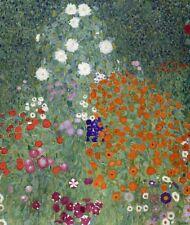 Flower Garden Gustav Klimt Canvas Art Print Painting Floral Wall Decor 8x10