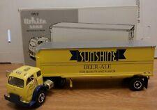 Sunshine Beer-Ale 1953 White 3000 Tractor w/ 30' Trailer Diecast 1/34 112019DBT7