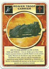 DOOMTROOPER: REAVER TROOP CARRIER VERS. #1 ENGLISH WARZONE MUTANT CHRONICLES CCG