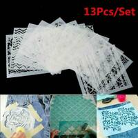 13pcs Embossing Template Scrapbooking Walls Painting Layering Stencils DIY Craft