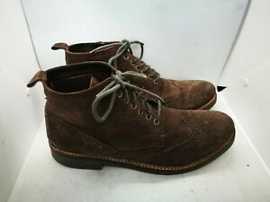 Frank Wright brown suede ankle boots uk 10