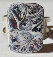 bague bijou rétro panier émaux de couleur taille réglable couleur argent * 5226