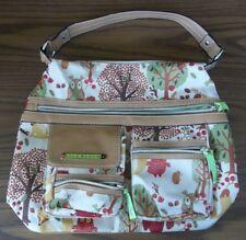 LILY BLOOM Fall Themed WOODLAND Autumn LIME GREEN Interior PURSE Handbag NICE