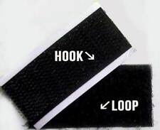 Self Adhesive Hook and Loop Tape 25mm Black - 1 metre free postage