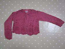GHOST Girl's Shrug Bolero, Cardigan Dusky Pink Top - size L (age 7-8)