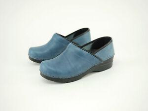Nice! Dansko blue leather pro clogs 8.5