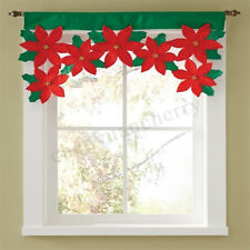 Christmas Floral Curtain Window Door Hanging Xmas Home Room Party Decorations
