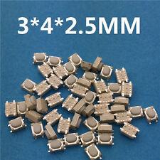 50pcs 3x4x2.5MM 4PIN G75 Tactile Tact Push Button Switch Self-reset Car Remote