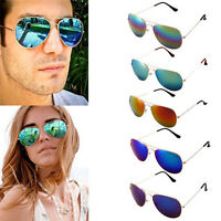 Ee _ Lujo Hombre Mujer Polarizado Retro Lente Espejo Gafas de Sol