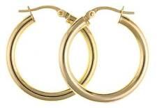 Screw Back (pierced) Hoop Fine Earrings without Stones