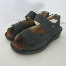 Finn Comfort Womens US 6 - 6.5  Black Leather Ankle Strap Sandals EU 37 Germany