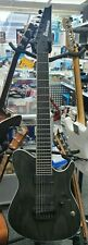 More details for ibanez fr series 7 string iron label electric guitar frix6feah charcoal stained