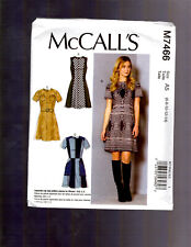 McCalls M7466 Misses Dresses and Belt Sewing Pattern Size 6-14