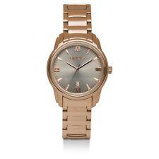 Damenuhr Gooix DUA-05903 Edelstahl Mineralglas Modern Rosé Grau UVP 149€ NEU