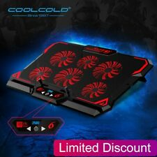 Laptop Cooler 6 Fans Laptop Cooling Pad 2 USB Port With Led Screen