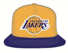 Los Angeles Lakers Yellow Purple NBA Basketball Mitchell & Ness Snapback Hat Cap