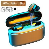Casque sans fil Bluetooth 5.0 Écouteurs TWS Mini écouteurs Casque stéréo IPX7 LB