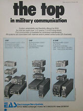 10/80 PUB EAS ELECTRONIQUE AEROSPATIALE MILITARY COMMUNICATION VHF UHF V/UHF AD