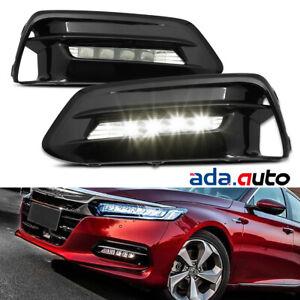 For 18-19 Honda Accord 4DR Sedan LED Fog Light Bumper Driving Replacement Lamp