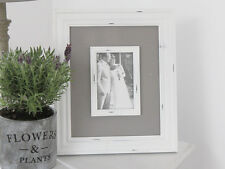 SHABBY PHOTO FRAME WHITE GREY BEACH VINTAGE FRENCH CHIC WEDDING   WOOD