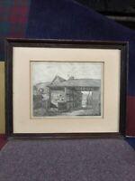 Ella D. Vinall 1945 Artist Proof Signed Etching. 28x38cm