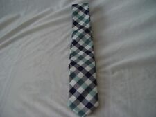 Bedford and Broome Navy Green and White Necktie New