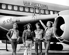 LED ZEPPELIN BAND REPRINT 8X10 AUTOGRAPHED SIGNED PHOTO JIMMY PAGE ROBERT PLANT