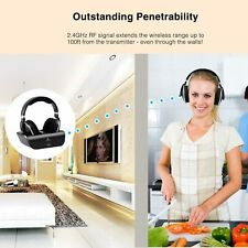 Artiste Adh300 Wireless Tv Headphones Over Ear Headsets w/Changing Dock @New@