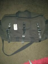 Lacoste Black Canvas Satchel style bag With Leather Trims & dustbag mint