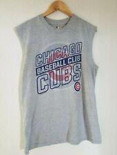 Chicago Cubs Baseball Mens Tank Top Gray No Sleeve Shirt Large