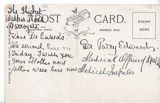 Genealogy Postcard - Family History - Dr Edwards - Medical Inspector  BH5465